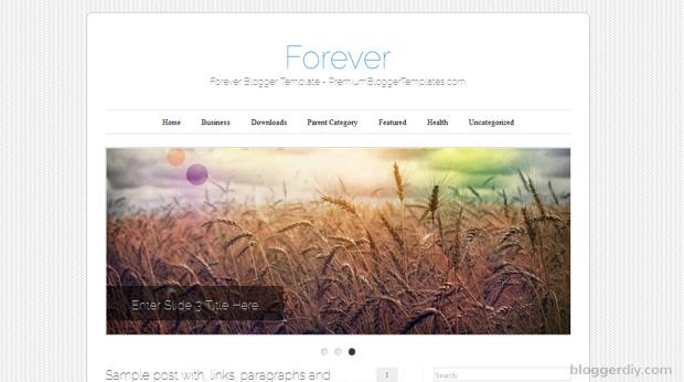 Forever Blogger template
