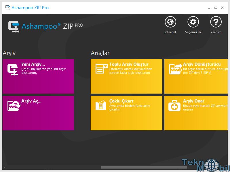 Ashampoo Zip Pro v2.0.0.38 Türkçe Full İndir