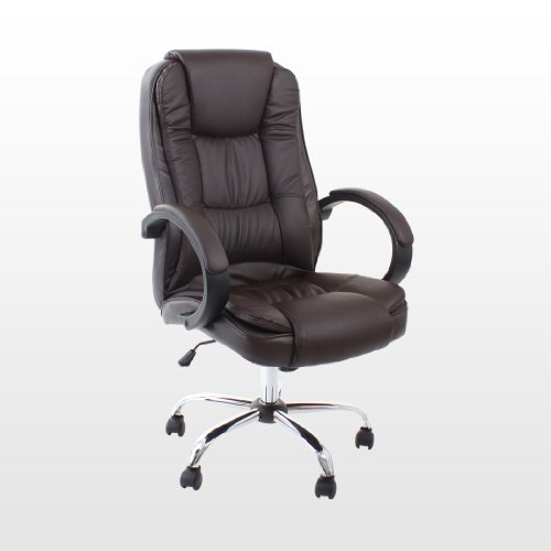santana brown high back executive office chair leather swivel