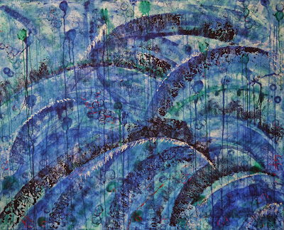 Moving waters. Acrylic on Canvas, 120x150cm