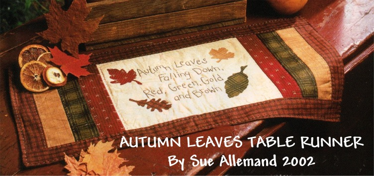 runner Stitchin' free Patterns fall Free patterns table