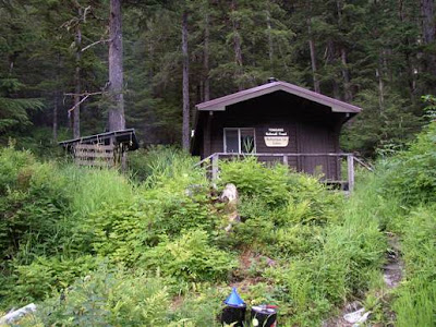 Cabin taken from lake.
