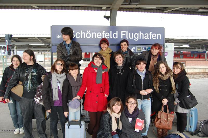 Le groupe sur le quai du S-Bahn