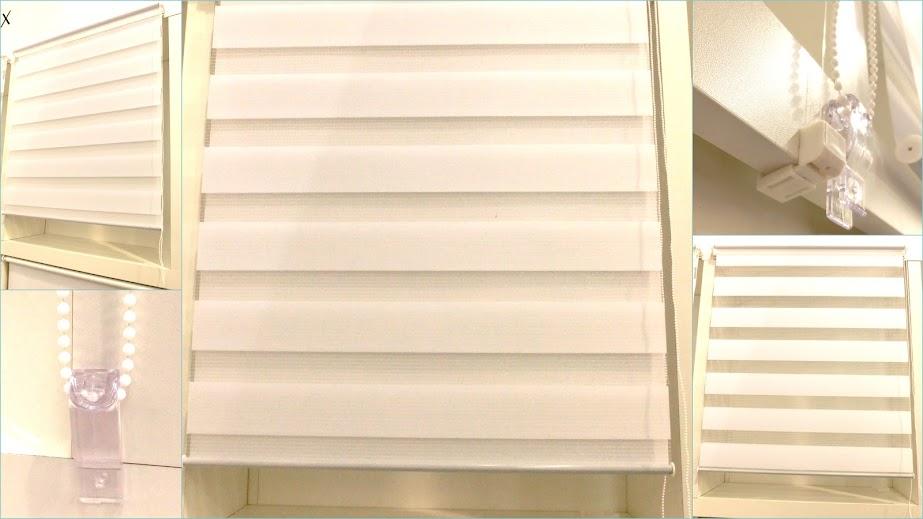 doppel rollo duo klemmfix ohne bohren easyfix seitenzug kettenzug vario rollos ebay. Black Bedroom Furniture Sets. Home Design Ideas