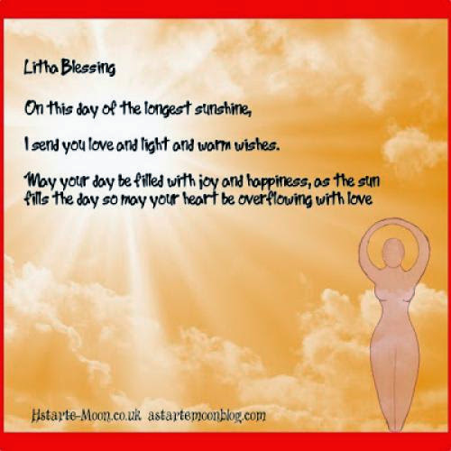 Litha Summer Solstice Blessing Free E Card And Affirmation