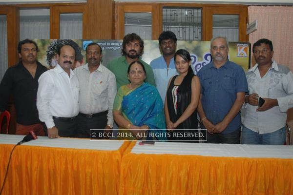 The cast and crew of E Dil Helide Nee Bekanta at the silver disc release of the film, in Hyderabad.