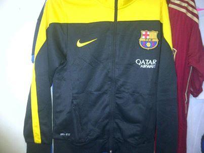 Jual Jaket Barcelona Grade Original Hitam Kuning