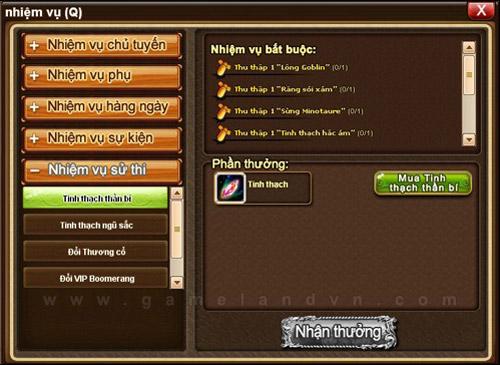 Gunny Online: Tìm hiểu về hệ thống nhiệm vụ sử thi 2