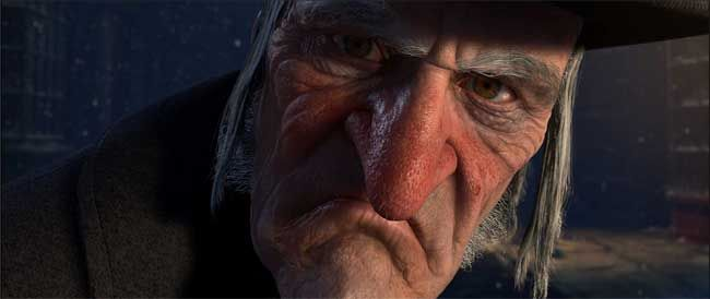 Ebenezer Scrooge (Jim Carrey)  ©ImageMovers Digital LLC