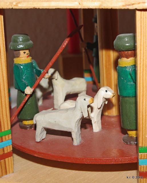 Hirten und Schafe