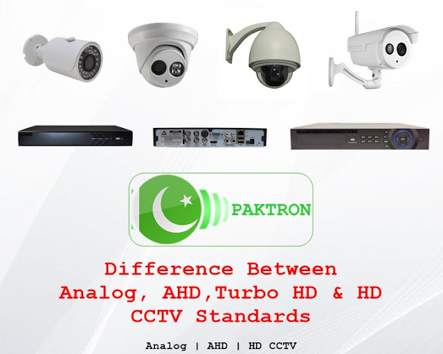 Difference in CCTV video standards and technology