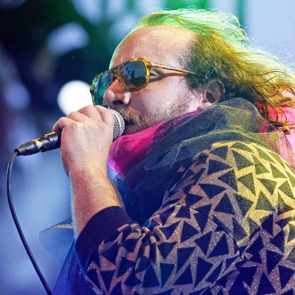 US singer Sean Tillmann 'Har Mar Superstar' performs on stage during Nice Jazz Festival on July 10, 2014, southeastern France.