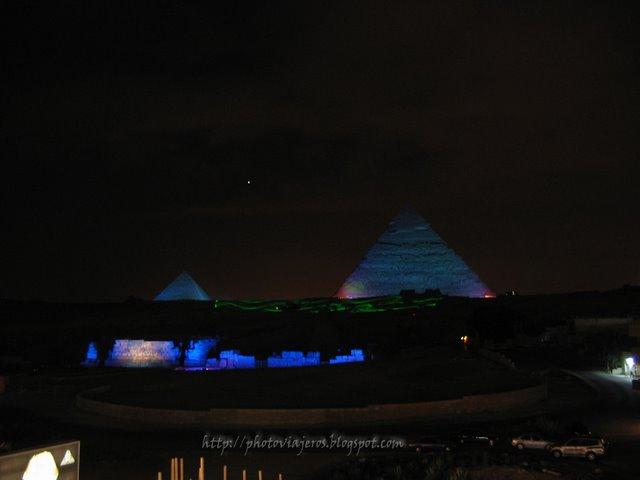 Espéctáculo Luz Pirámides