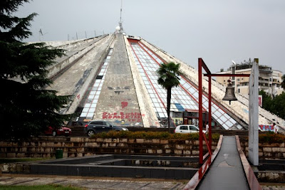 The Pyramid building in Tirana Albania