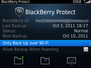 Screenshot Blackberry Protect
