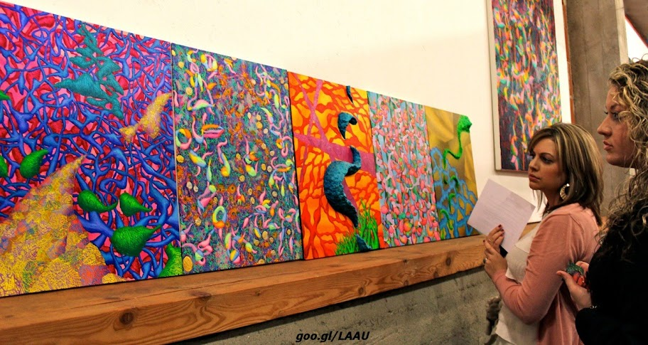Victor Angelo Growth Paintings Modern Art Gallery Reception