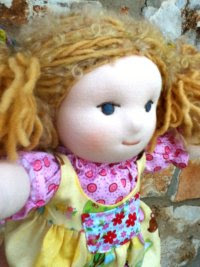 "New Dolly for Christmas -  Eliza, a 13 1/2"" Waldorf Doll"