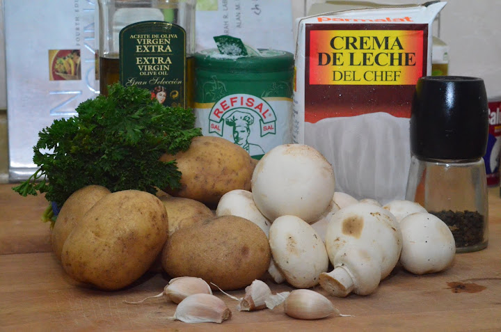 D7K 0527 Картошка с грибами в сливках