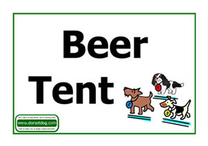 Dorset dog show beer tent sign