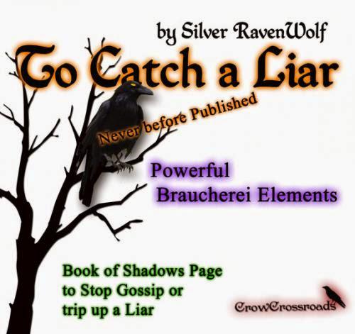 To Catch A Liar Stop Gossip Spell Wicca Pagan Braucherei