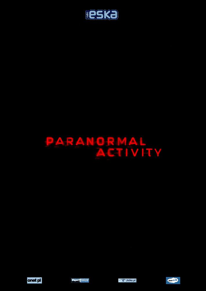 Ulotka filmu 'Paranormal Activity (przód)'