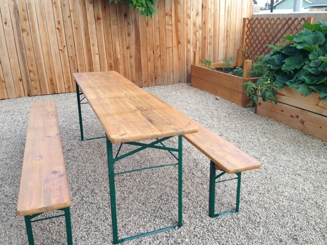 sabonomics German Beer Garden Picnic Table Refinshed