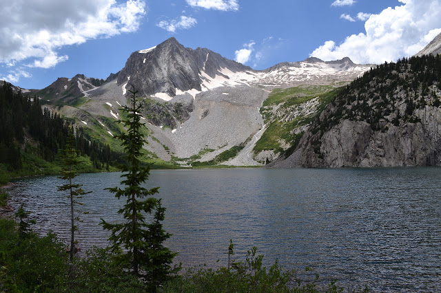 Snowmass Lake and Snowmass Mountain