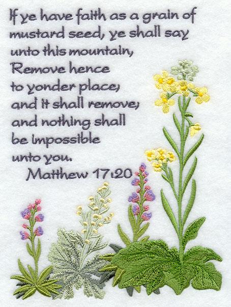 Seeking Virtue Sunday Mustard Seed Faith Words Are Timeless