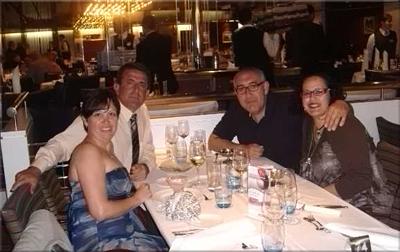 Merce, Angel, Nerea y yo en la cena de gala