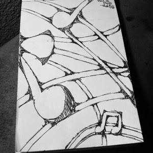 Abstract musical drawing by Charles Hill