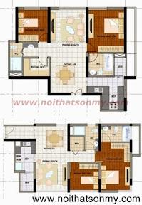 Thiết kế nội thất căn hộ 382