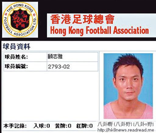 顧志雅肯剝,經常影三角褲相。除了做 model,他曾是香港足球青年軍,足球總會網站亦有他資料,他試過呃波衫錢。