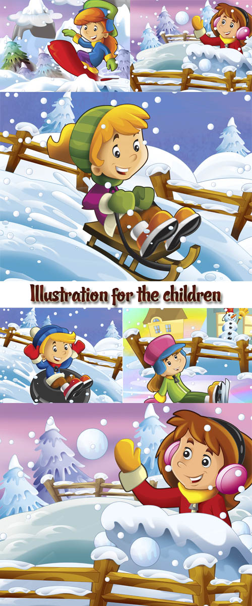 Stock Photo: Christmas fun - illustration for the children