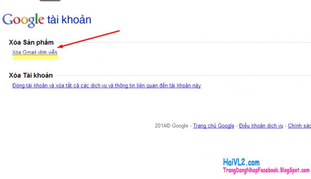 xóa vĩnh viễn gmail