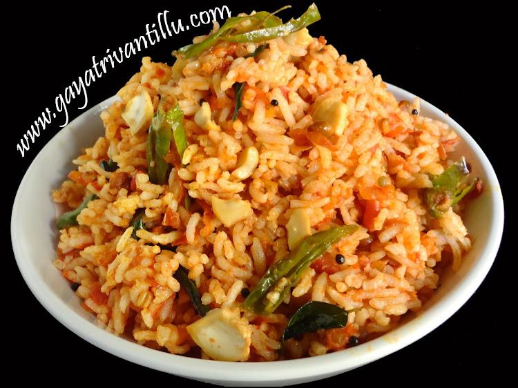 Tomato pulihora andhra recipes telugu vantalu gayatri vantillu tomato pulihora ccuart Gallery