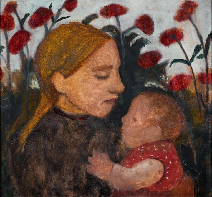 Paula Modersohn-Becker - Girl with child - Google Art Project