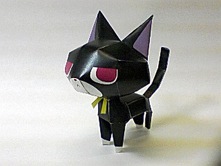 Michelle Black Cat Papercraft