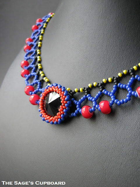Black Heart Rivoli Collar