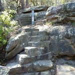 Stone steps on the east side of Buffalo Creek (345214)