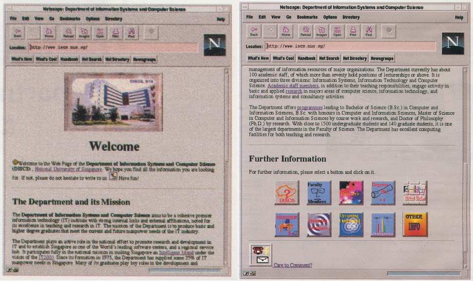 Our website in 1995