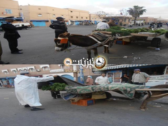 حملة بشارع سيدي عبد الرحمان ضد الباعة المتجولين