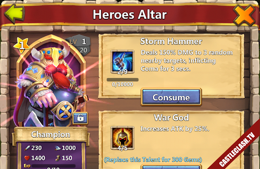 Sell Account Castle Clash have Pumpkin Champion Succusbus Thunder God
