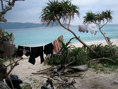 奄美大島での洗濯