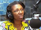 Jeannine Mabunda, représentante personnelle du chef de l'Etat congolais chargée des questions des violences sexuelles le 28/10/2014 au studio de Radio Okapi/Photo John Bompengo