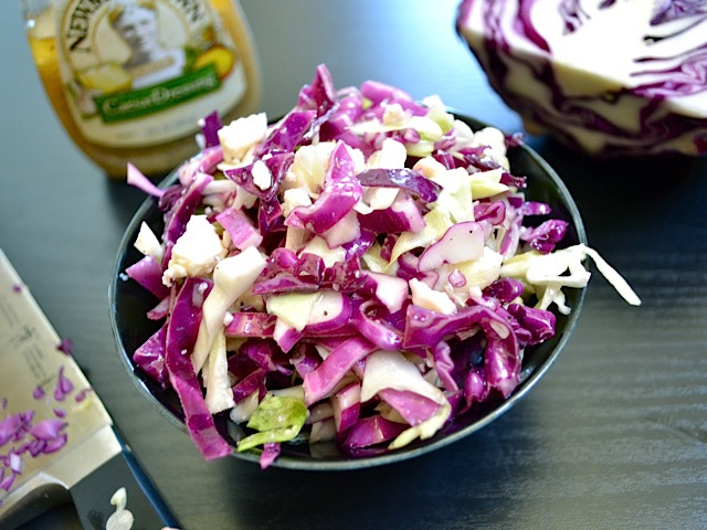 vinaigrette slaw with feta