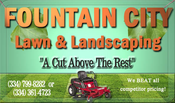 fountain city lawn and landscaping in prattville, alabama