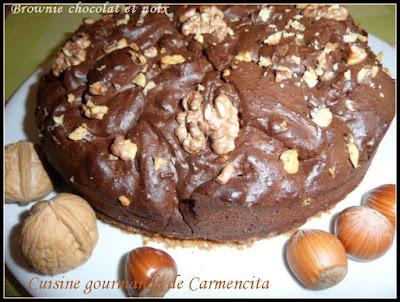 Le brownie au chocolat et aux noix - recette indexée dans les Desserts