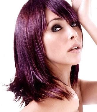 tóc màu tím rất đẹp