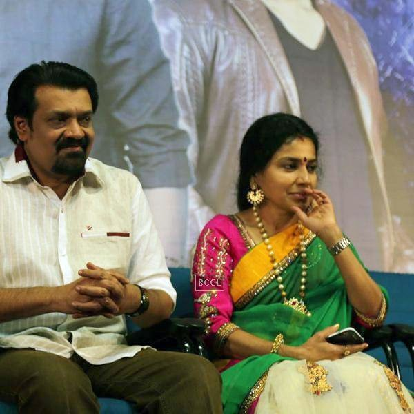 A guest during the audio launch of Tamil movie, held in Chennai.