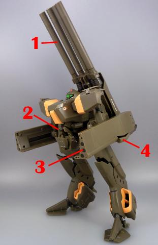 Macross VF-X2 Macross VF-X2 VB-6 Koenig Monster König Konig Armament weapon position